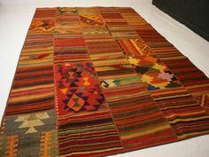 nr.243 Hochwertige original Designer patchwork Kelim Teppich Kilim ca.300 x 200