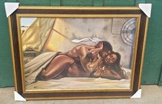 It's getting hot in here....whew! Love this one by the number one urban artist out right now, Kevin Williams. He is better known by the name of WAK. This is another sensual work of art by him where sparks are flying! #blackart #blacklove...