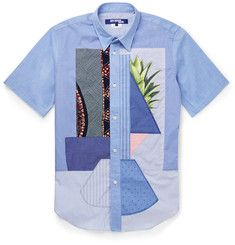 Junya Watanabe - Slim-Fit Patchwork Cotton Shirt