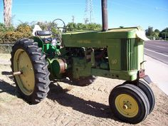 Old John Deere Tractor Old John Deere Tractors, Old Farm Equipment, 8 Year Olds, Country Living, Farms, Industrial, Memories, Antique, Future