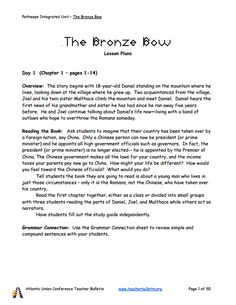 The Bronze Bow Summary & Study Guide - BookRags.com