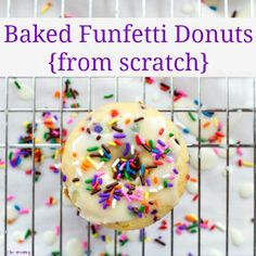 Baked Funfetti Donuts {from scratch}