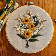 Floral Embroidery Patterns, Hand Embroidery Stitches, Modern Embroidery, Embroidery Hoop Art, Cross Stitch Embroidery, Advanced Embroidery, Embroidery For Beginners, Decoration, Couture