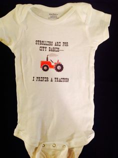 662bc38d5 Baby Onesie with Sayings Farm Onesie Country by DryllersMunchkins Tractor  Crafts, Farm Quotes, Farm
