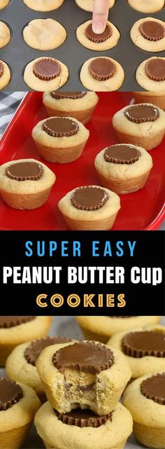 Peanut Butter Cup Cookies –Unbelievably delicious desserts or snacks recipe that's fool proof. Miniature Reese's peanut butter cups stuffed inside soft and chewy cookie cups, creating a wonderful cookie cups that melt in your mouth. All you need is only a few simple ingredients.  Fun recipe to make with kids. Quick and Easy recipe that takes only 25 minutes. Dessert, Party Food. Vegetarian. Video recipe. | http://Tipbuzz.com