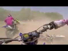 Dirt Bike Race Pile Up  Racer Gets Run Over