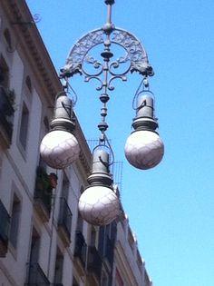 Straatverlichting Barcelona