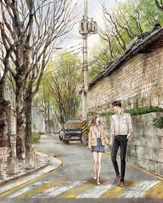 Trong hình ảnh có thể có: một hoặc nhiều người và ngoài trời Love Cartoon Couple, Chibi Couple, Anime Love Couple, Cute Couple Drawings, Cute Couple Art, Cute Couples, Art Anime, Anime Art Girl, Couple Amour Anime