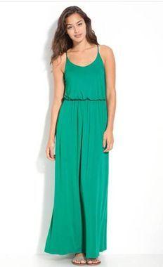 Green Maxi Dress & 6 More Perfect Sundresses | http://thestir.cafemom.com/beauty_style/156198/7_sundresses_perfect_for_moms?utm_medium=sm_source=pinterest_content=thestir