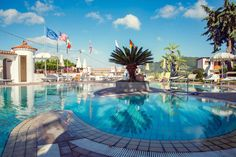 Thermal pool @ Hotel Internazionale Ischia - info@hotelinternazionaleischia.com, Via Acquedotto 33, 80070 Barano d'Ischia NA,  Tel: +39081901315 Outdoor Swimming Pool, Swimming Pools, Thermal Pool, Das Hotel, Island, Mansions, House Styles, Water, Outdoor Decor
