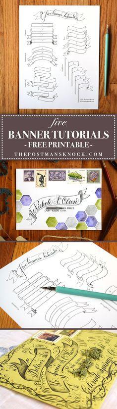 Five Banner Tutorials + Free Printable | The Postman's Knock