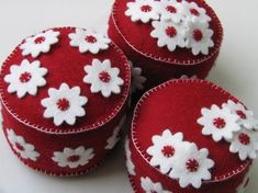 Cute little pincushions