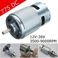 775 DC 12V-36V 3500-9000RPM Motor Ball Bearing Large Torque High Power Low  ❤