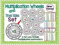 Multiplication Wheels and Times Tables Set @Tamara Scott  These are cute!