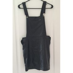 Leather skirt overalls Pleather 'skirtalls' by Ultraviolet Child. Only worn once to model. Size M. Nasty Gal Skirts