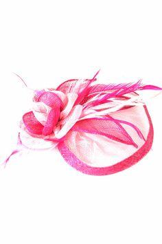 Fascinator - Mesh Flower18 (Hair Clip) - Hot Pink