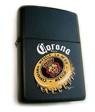 ZIPPO Beautiful CORONA BEER Black Matte Collectible Limited Edition ULTRA RARE