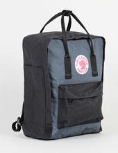Fjallraven Kanken Backpack Bag - Black/Grey