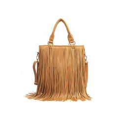 5daa7651175e4 Hot sale Suede Fringe Tassel Shoulder Bag women s fashion brown handbag  purse tote bags bag