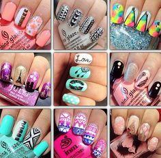 Nails Fancy Nails Designs, Fancy Nail Art, Nail Polish Designs, Cool Nail Designs, Nail Candy, Disney Nails, Art Decor, Decor Ideas, China Glaze
