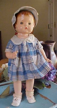 Effanbee Composition Patsy Doll W/Sleep Eyes & Darling Outfit