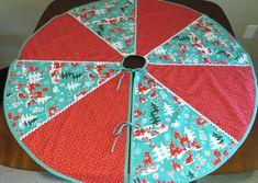 Mid Century Style Tree Skirt, Hand Made by Tiki Queen