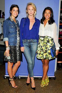 rebeccasharez: Leandra Medine, Elin Kling & Hannah Bronfman at Prabal Gurung ICB party, wearing the designer.