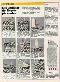 Knitting Charts, Knitting Stitches, Knit Mittens, Mitten Gloves, Norwegian Knitting, Knitting Projects, Bunt, Knit Crochet, Crochet Patterns