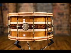 cocobolo, cherry, and maple segmented snare. Snare Drum, Drum Kits, Jimi Hendrix, Music Is Life, Drums, Really Cool Stuff, Solid Wood, Shells, Music Instruments