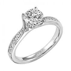 Leah ArtCarved Diamond Engagement Ring