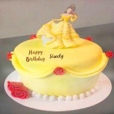 Amazing Barbie Doll Happy Birthday Cake With Name Image