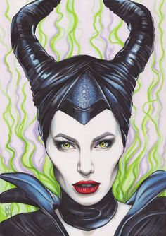 Maleficent Thought I'd upload this here too! Made with Pro/FlexMarkers and some color pencils on Mal-Zeit manga drawing paper Art Drawings Sketches Simple, Pencil Art Drawings, Cute Drawings, Disney Kunst, Disney Art, Disney Drawings, Cartoon Drawings, Maleficent Drawing, Malificent Tattoo