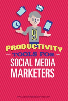 Are you a busy social media marketer? Looking for tools that will save you time? Using the right tools to stay focused and work more efficiently will help you get more done in a day. In this article youll discover nine productivity tools for busy mark Social Media Marketing Business, Digital Marketing Strategy, Facebook Marketing, Social Media Tips, Online Marketing, Business Entrepreneur, Marketing Ideas, Marketing Tools, Blogging