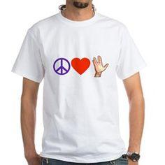 Peace Love Star Trek White T-Shirt #startrek #leonardnimoy #spock
