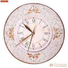 Часы «Прованский шик» - | Леонардо хобби-гипермаркет - сделай своими руками Decoupage, Wall Clocks, Crafts, Watches, Decoration, Ornaments, Wrist Watches, Decorating, Wristwatches