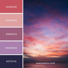 Henley Beach Litt Up – Color Palette – Ave Mateiu Sunset Color Palette, Dark Color Palette, Color Schemes Colour Palettes, Purple Palette, Purple Color Schemes, Sunset Colors, Dark Colors, Color Trends, Current Picture