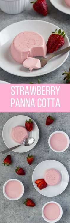 Panna Cotta Strawberry Panna Cotta is a delicious, creamy, and delicate dessert. It's so easy to make with just a handful of ingredients. Panna Cotta is a delicious, creamy, and delicate dessert. It's so easy to make with just a handful of ingredients. Brownie Desserts, Oreo Dessert, Easy Desserts, Delicious Desserts, Yummy Food, Gourmet Desserts, Simple Dessert Recipes, Light Summer Desserts, Easy Desert Recipes