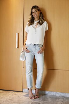 Look do dia Jeans e Branco bobstore2