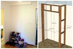 Build a wardrobe closet from scratch Wardrobe Shelving, Ikea Wardrobe, Wooden Wardrobe, Wardrobe Furniture, Wardrobe Cabinets, Wardrobe Ideas, Diy Built In Wardrobes, Diy Fitted Wardrobes, Build Your Own Wardrobe