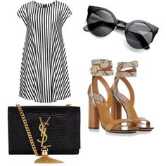 summer by stefiiiii97 on Polyvore featuring polyvore fashion style Choise Gucci Yves Saint Laurent