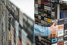 Móvel feito com fitas cassete - Arte Reciclada