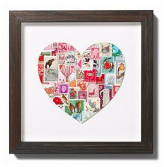 Gorgeous design and collage of stamps, from Bombus, on Etsy.com
