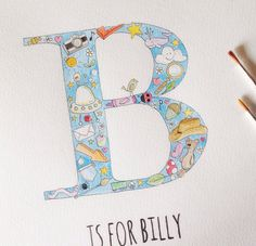 Not like any old personalised print, this beautiful name art is hand drawn and painted in vibrant watercolours just for you. Making it a truly special