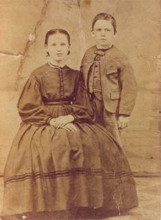 In celebration of Laura Ingalls Wilder's husband, Almanzo, here is a picture of nine year old Almanzo with his sister, Alice. This photo is on display at the beautifully restored Wilder Homestead in Malone, NY.