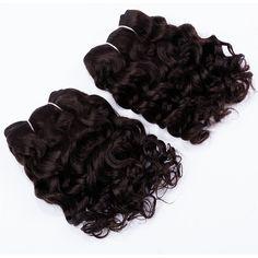 """EVET 2 stücke Set 8 """"lockige Brasilianische Menschliche haar 7A Unverarbeitete Reine haar Spinnt Verworrene Lockige Haarverlängerungen # 1b #2 #4"""