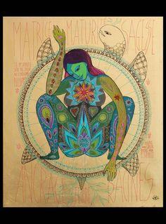 Totems by Caroline Maniere Art Visionnaire, Birth Art, Spirited Art, Sacred Feminine, Goddess Art, Visionary Art, Sacred Art, Tantra, Psychedelic Art