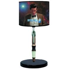 Light up your earth-bound realm with this new sonic screwdriver lamp featuring the eleventh Doctor, Matt Smith. The screwdriver extends, just like the Doctor's...