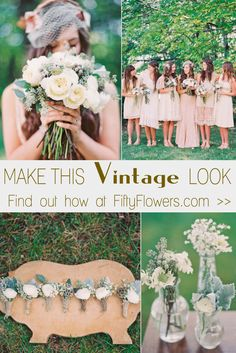 Find out how to Make this Vintage Look at FiftyFlowers.com!