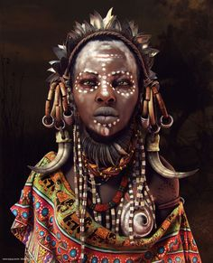 African Women, Moises Gomes on ArtStation at http://www.artstation.com/artwork/african-women