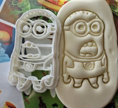 """Items similar to Despicable Me Minion """"WHAT?"""" Expression Cookie Cutter / Made From Biodegradable Material / Brand New / Party Kids Birthday / Baby Shower on Etsy Minions What, Minions Birthday Theme, Minion Cookies, Despicable Me Party, Kid Party Favors, Shower Cakes, Cookies Et Biscuits, Cookie Cutters, Santiago"""